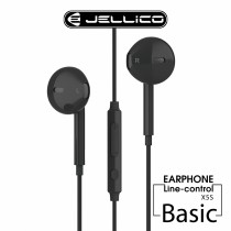 【JELLICO】X5S 超值系列入耳式音樂三鍵線控耳機-黑色 (JEE-X5S-BK)