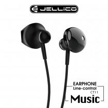 【JELLICO】金屬高質感系列線控耳機-黑色 (JEE-CT11-BK)