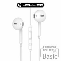 【JELLICO】X5S 超值系列入耳式音樂三鍵線控耳機-白色 (JEE-X5S-WT)
